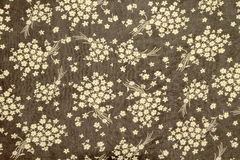 Flowers on  fabric pattern background Royalty Free Stock Photo