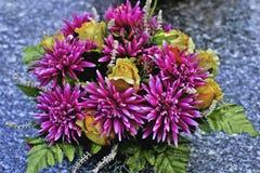 Flowers of fabric Stock Photos
