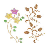 Flowers fabric  on white Stock Photos