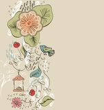 Flowers. Flowers fantasy. Cute background  for your text Royalty Free Stock Image