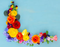 Flowers festive composition Royalty Free Stock Photos