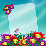 Flowers Field. Illustration flowers field nature garden Stock Image