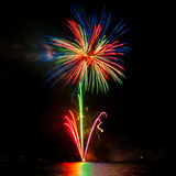 Flowers of fireworks Royalty Free Stock Photography