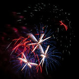 Flowers of fireworks Stock Photos