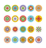 Flowers and Floral Colored Vector Icons 2 Stock Images