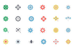 Flowers and Floral Colored Vector Icons 1 Stock Photography