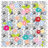Flowers floral pattern wallpaper background Stock Photo