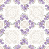 Flowers floral seamless pattern lace background Royalty Free Stock Images