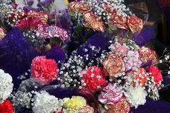 Flowers At Florist Market Royalty Free Stock Photos