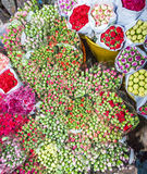 Flowers at the flower market in Mong Kok in Hong Kong Royalty Free Stock Images