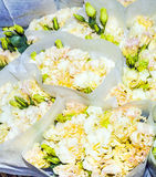 Flowers at the flower market in Mong Kok in Hong Kong Royalty Free Stock Photography