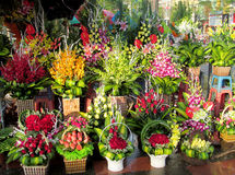 Flowers on the flower market Stock Photo