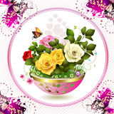 Flowers in flowerpot Royalty Free Stock Photography