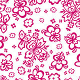 Flowers in the form of stencils seamless Stock Photos