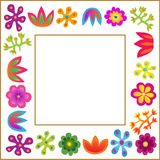 flowers frame Stock Photos