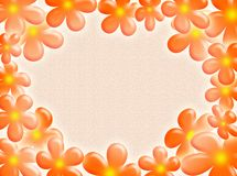 Flowers frame. A very spring background with colourful flowers as frame royalty free illustration