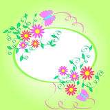 Flowers frame. Artistic flowers and butterflies frame design Royalty Free Stock Photography