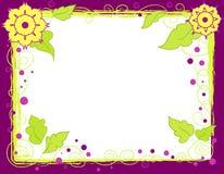 Flowers frame royalty free illustration