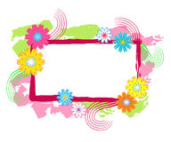 Flowers frame Stock Photo