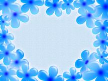 Flowers frame. A pastel background with blue flowers as frame Stock Image