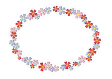 Flowers frame. Frame of red, pink and violet flowers Stock Image