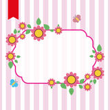 Flowers frame with place for text Stock Image