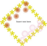 Flowers frame with space for text. Isolated Royalty Free Stock Photos