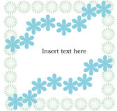 Flowers frame with space for text. Isolated Stock Photo