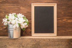 Flowers and frame Royalty Free Stock Photography
