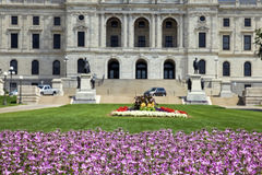 Flowers in front of State Capitol Stock Images