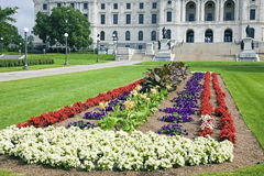 Flowers in front of State Capitol Royalty Free Stock Image