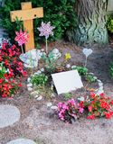 Flowers after a funeral in an old cemetery. In Germany royalty free stock photos
