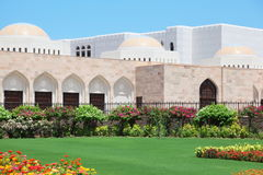 Flowers in garden inside Sultan's Palace in Oman Stock Photography