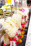 Flowers garland offering for gods Royalty Free Stock Photography