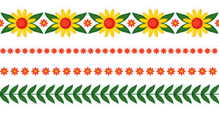 Flowers garlands set Royalty Free Stock Image