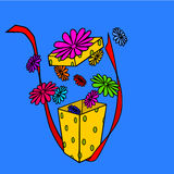 Flowers gift Royalty Free Stock Photos