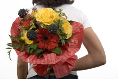 Flowers Gift Royalty Free Stock Photography