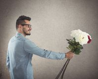 Flowers gift Stock Images