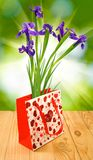 Flowers in gift packing Stock Image