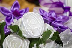 Flowers gift-testimony Stock Photos