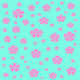 Flowers gift wrap Stock Photos