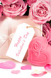 Flowers and gifts for Valentine's Day Royalty Free Stock Images