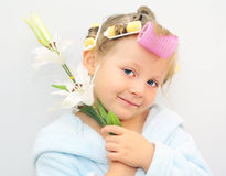 Flowers girl. Stock Images