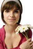 flowers girl Στοκ Εικόνες