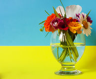 Flowers in a glass flag Stock Images