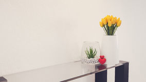 Flowers in a Glass With a modern layout. Royalty Free Stock Image