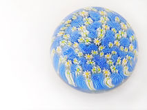 flowers glass paperweight Στοκ Εικόνες