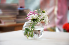 Flowers in a glass vase Stock Photos