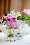 Flowers in a glass of water Stock Image