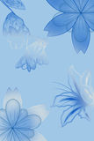 Flowers with gradient. In blue/gray Royalty Free Stock Photos